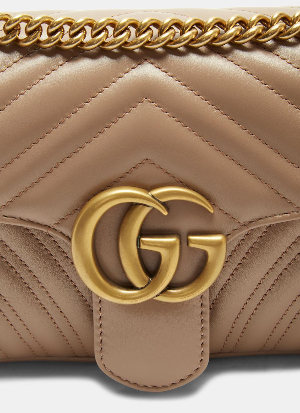 329413ed1a5823 Gucci Gg Marmont Matelassé Small Chain Shoulder Bag In Taupe in ...