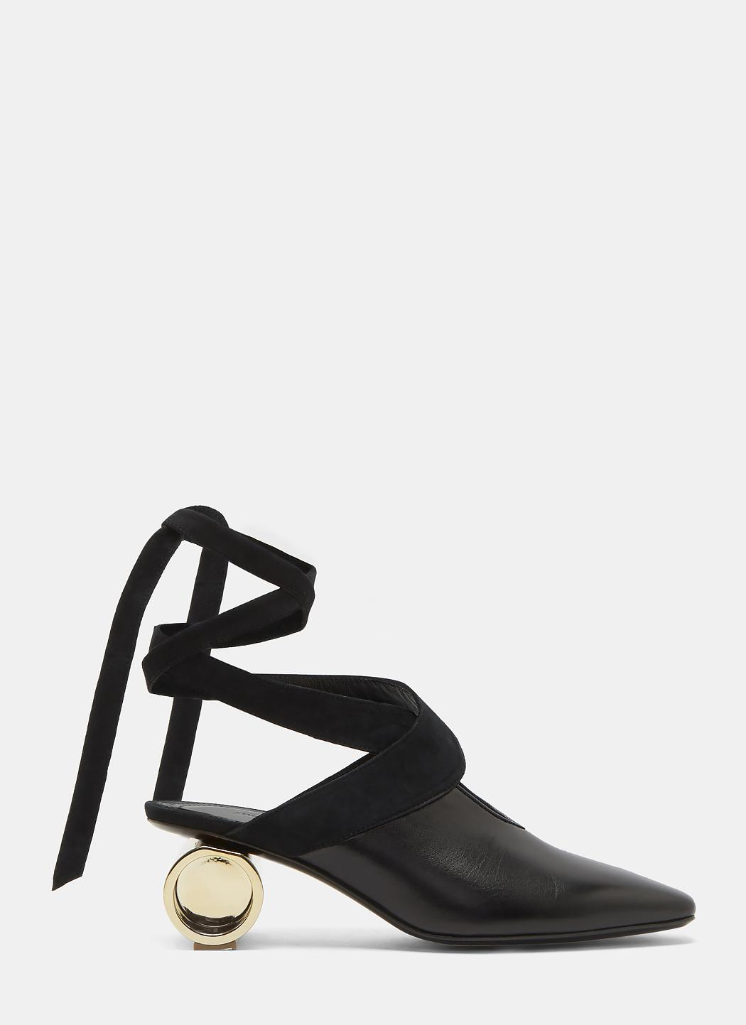 Cylinder Heeled Leather Ballerina Shoes J.W.Anderson Latest Online P2itMlUB