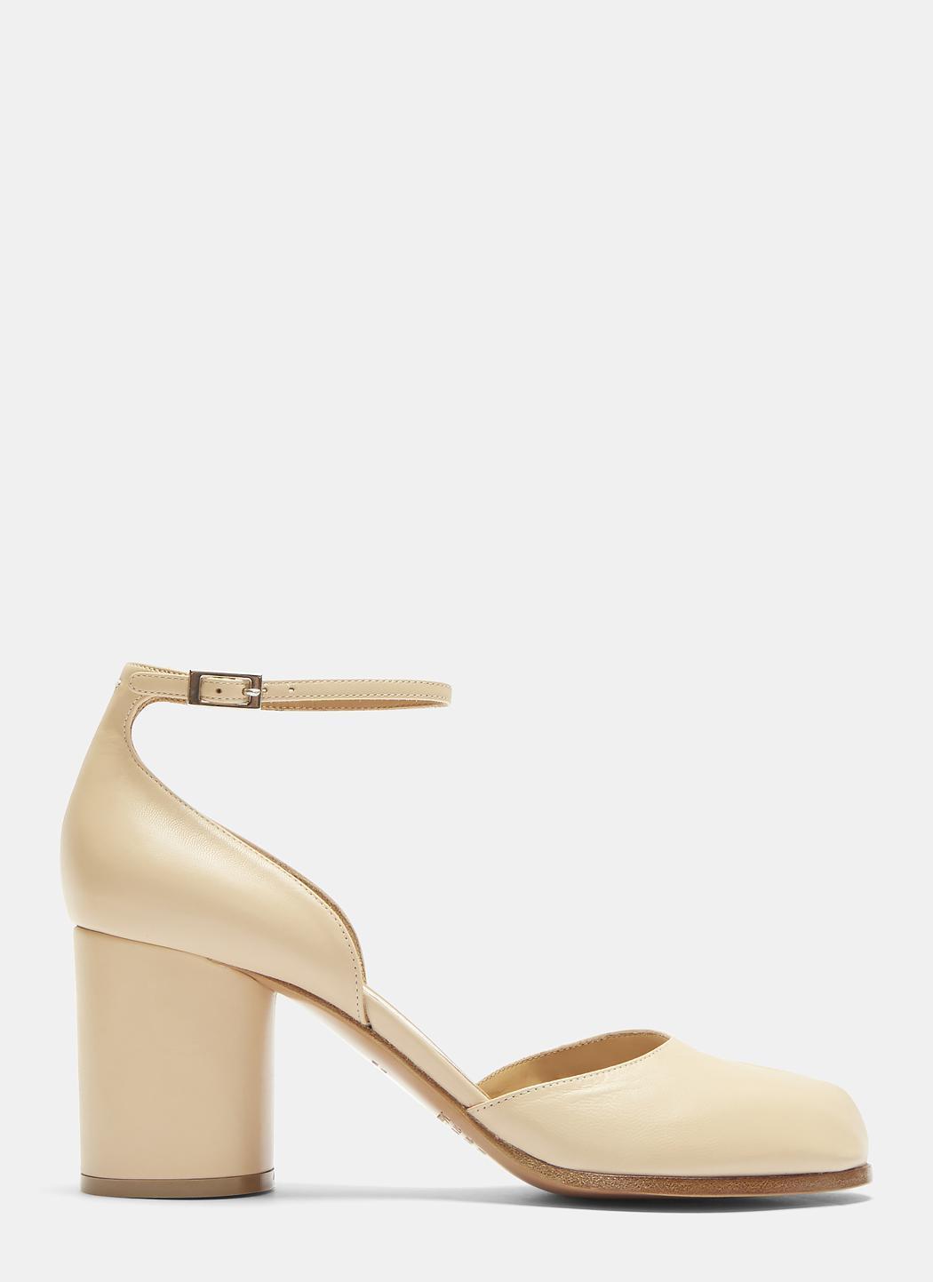 2ef763511e9e Maison Margiela Tabi Heeled Sandals In Nude in Natural - Lyst