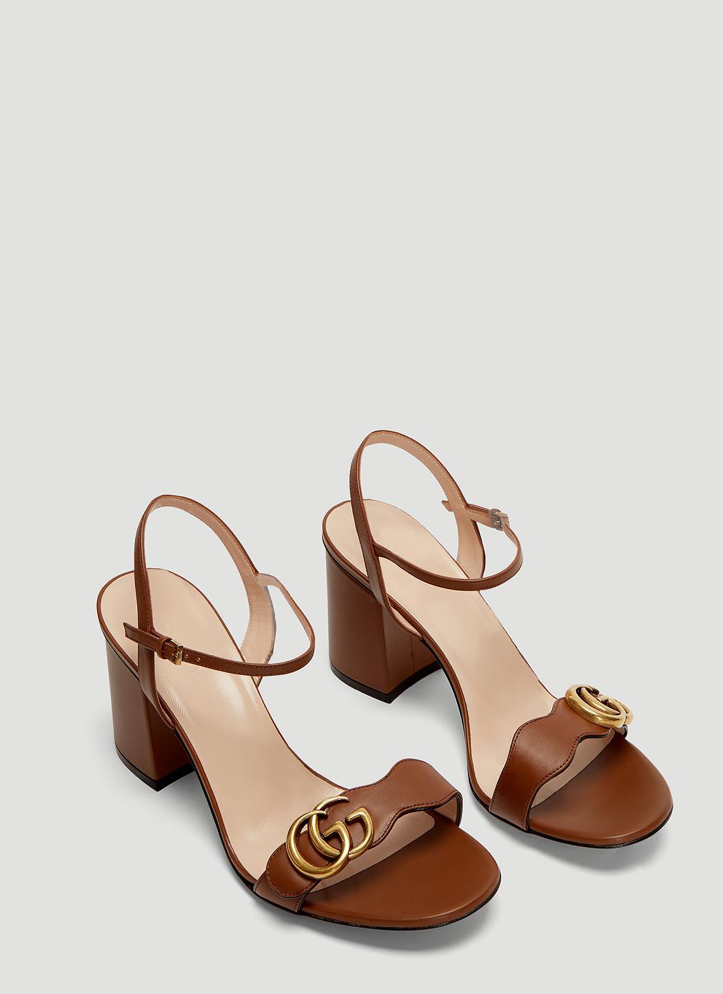 bb26ba9d1d9 Gucci - GG 75 Marmont Sandals In Brown - Lyst. View fullscreen