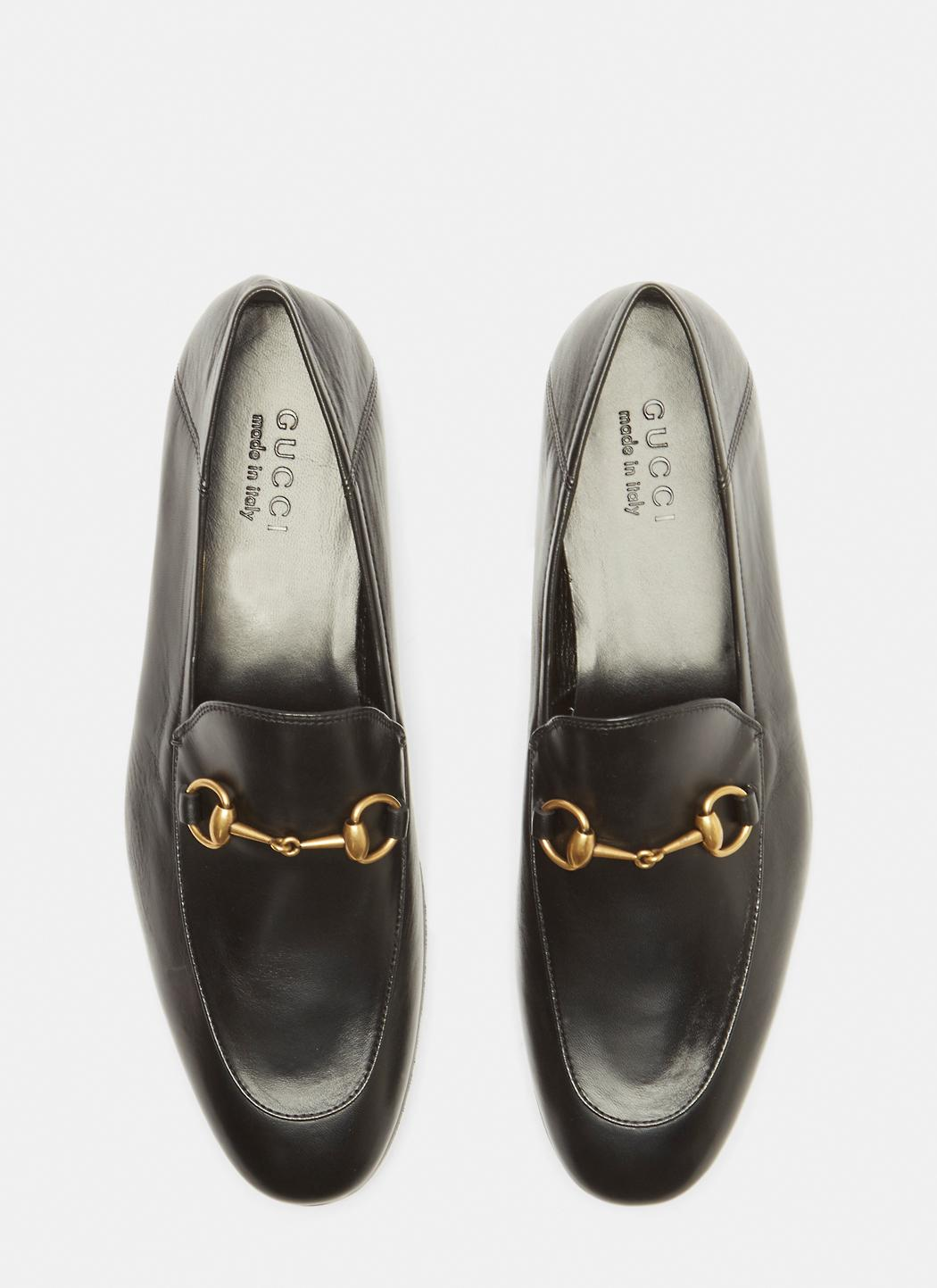 9f6adea5162 Gucci - Brixton Leather Loafers In Black for Men - Lyst. View fullscreen