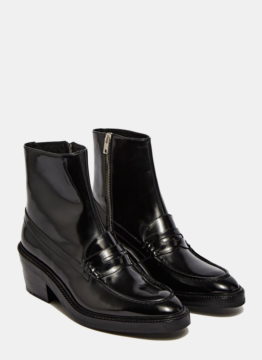 18d89903a8b8 Lyst - Yang Li Women s Penny Loafer Ankle Boots In Black in Black