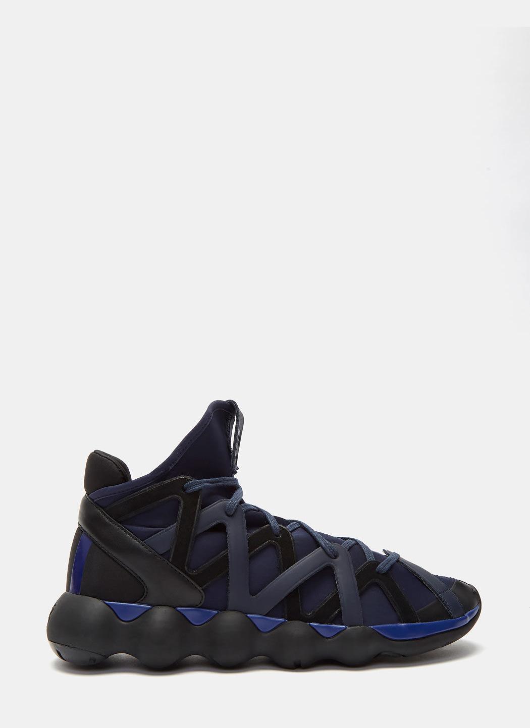 583b07ca65738 Lyst - Y-3 Men s Kyujo High Sneakers In Black And Blue in Black for Men