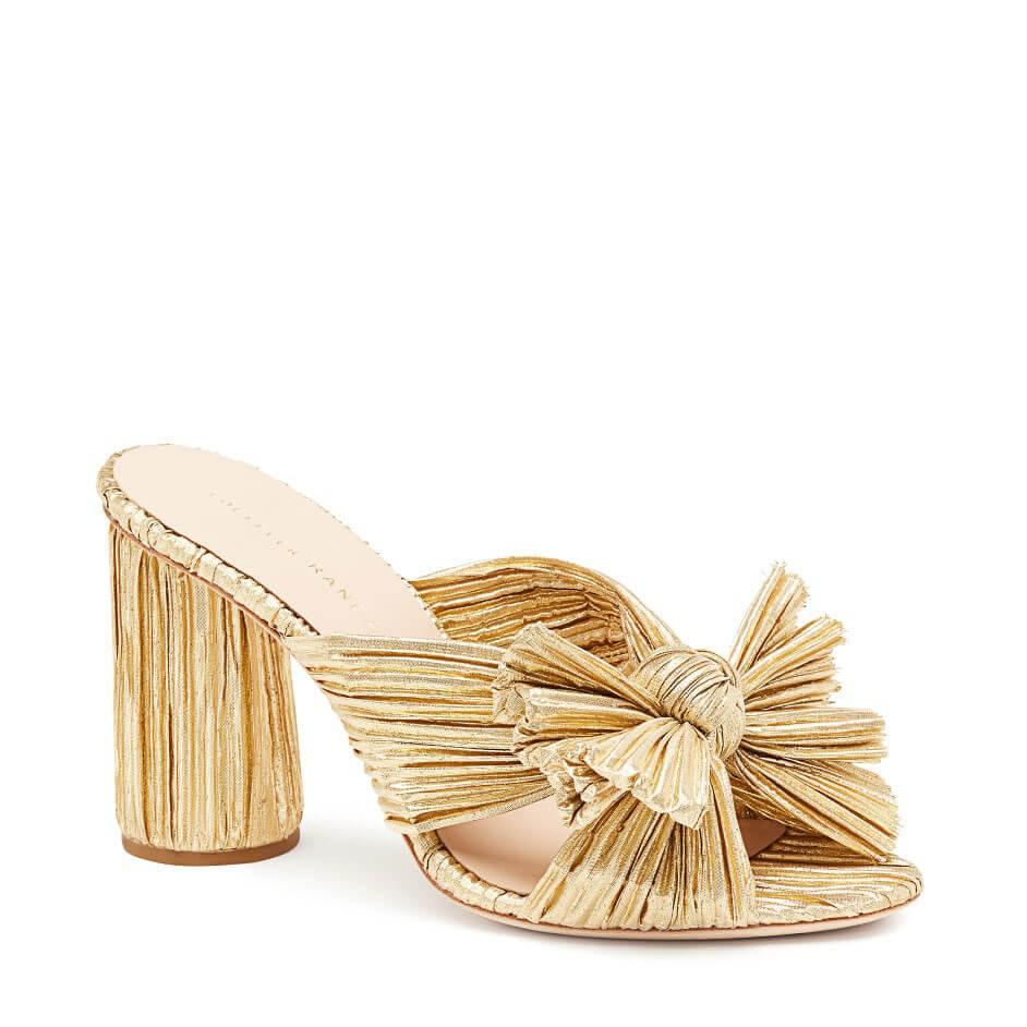 Loeffler Randall Women's Penny Pleated Metallic High-Heel Slide Sandals iW8JSL9p