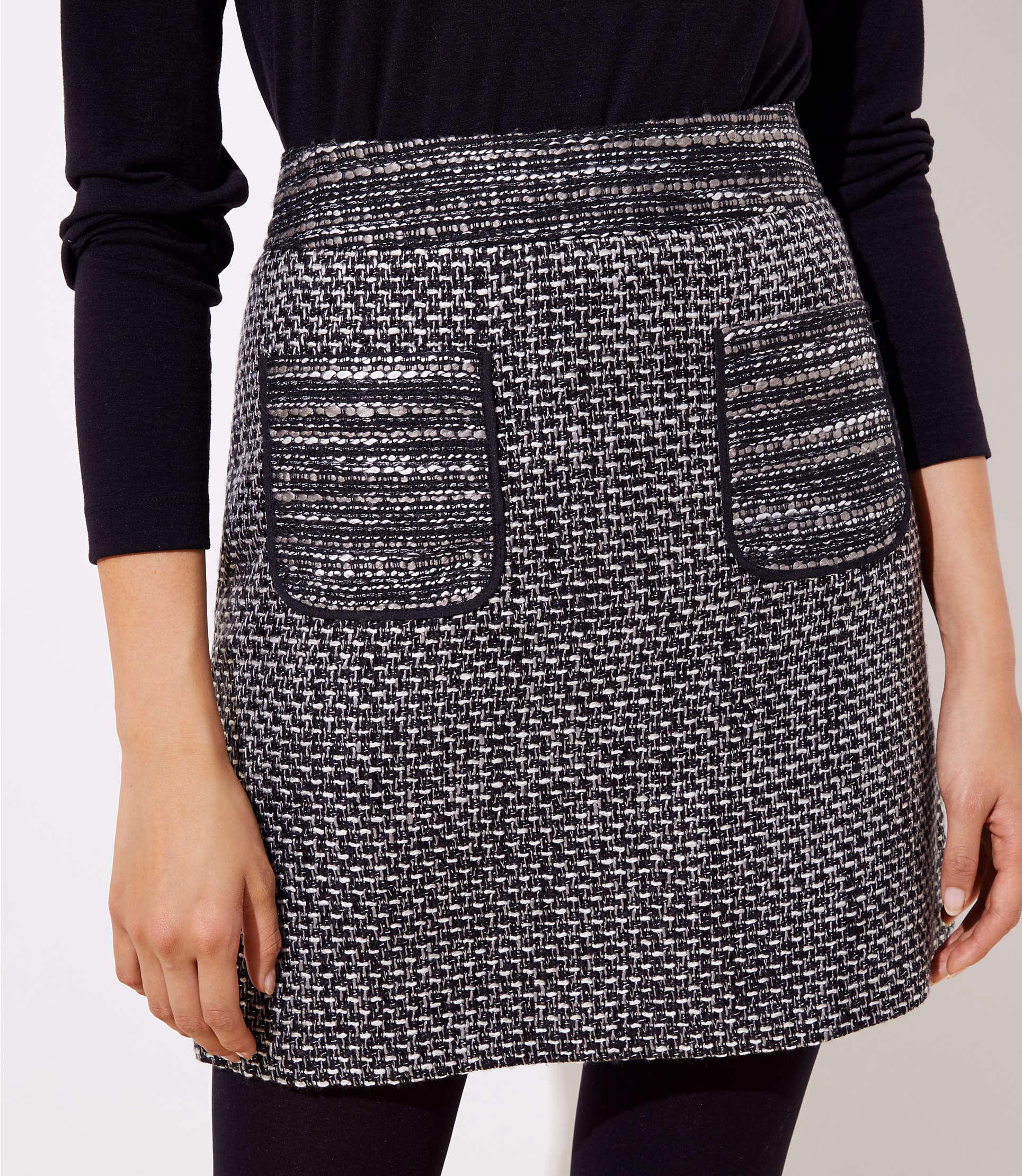 c8fa58d6a20 ... Tweed Pocket Skirt - Lyst. View fullscreen