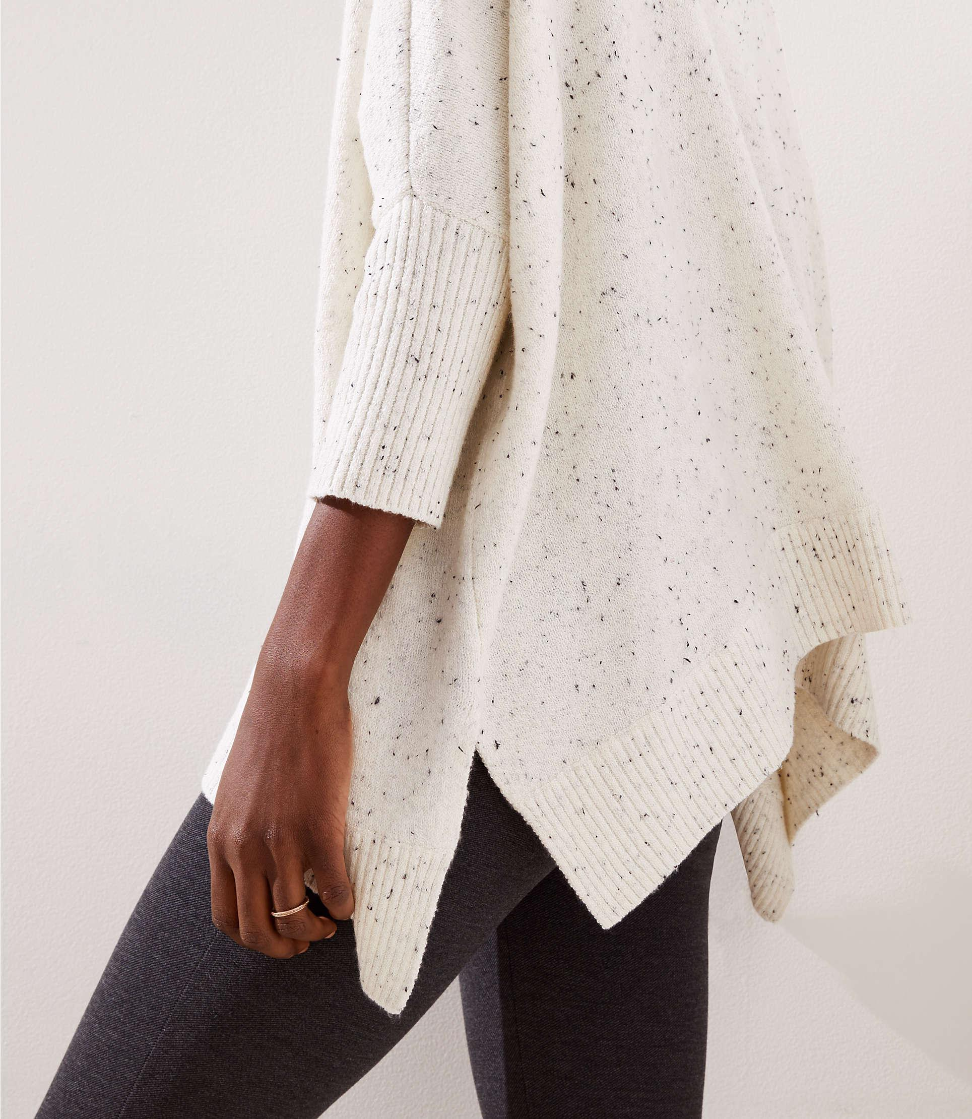 a85269cd0c9e Lyst - LOFT Turtleneck Poncho Sweater