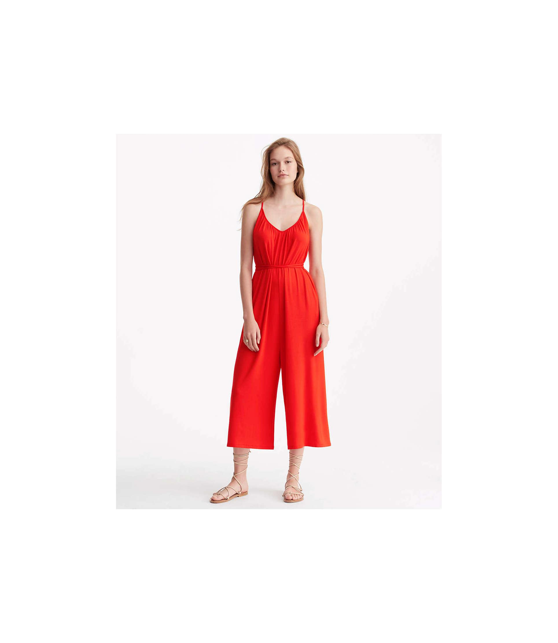 2054026ebe2 Lyst - LOFT Lou   Grey Strappy Signaturesoft Jumpsuit in Red