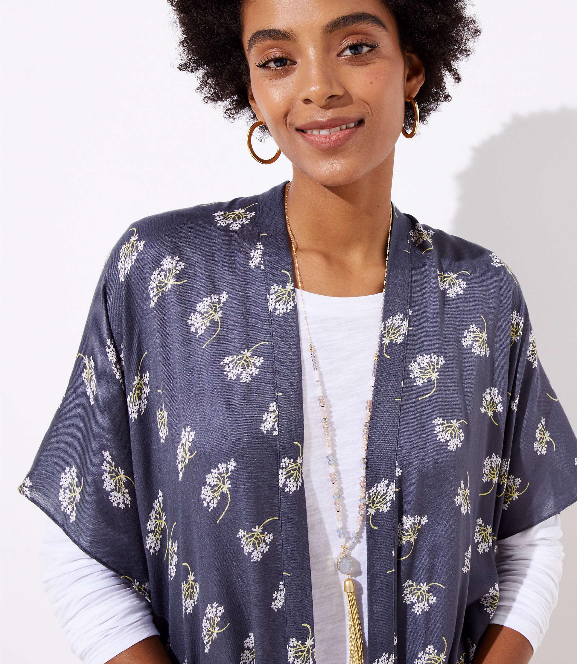 4561c150c72 Lyst - LOFT Bouquet Kimono