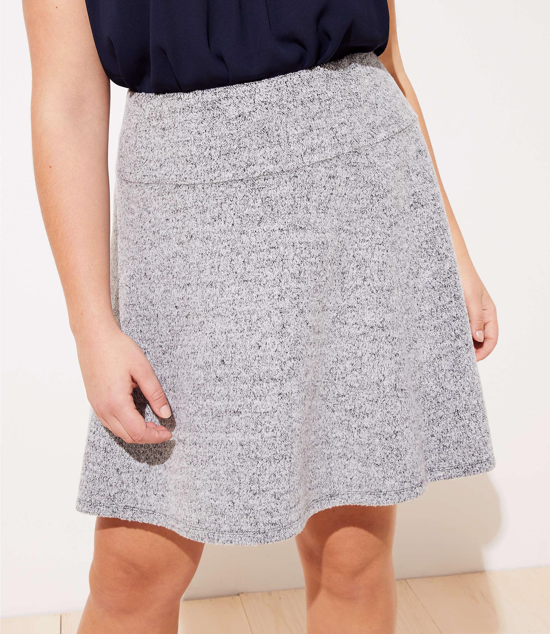 a8f556ca4 LOFT - Black Plus Pull On Flippy Skirt - Lyst. View fullscreen