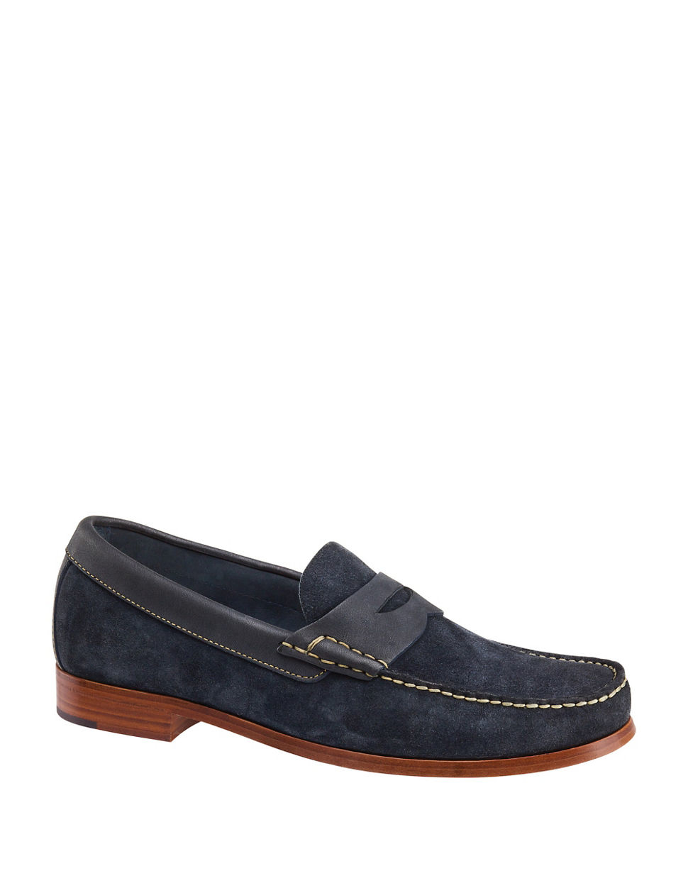 Johnston amp Murphy Danbury Penny Suede Loafers In Black For