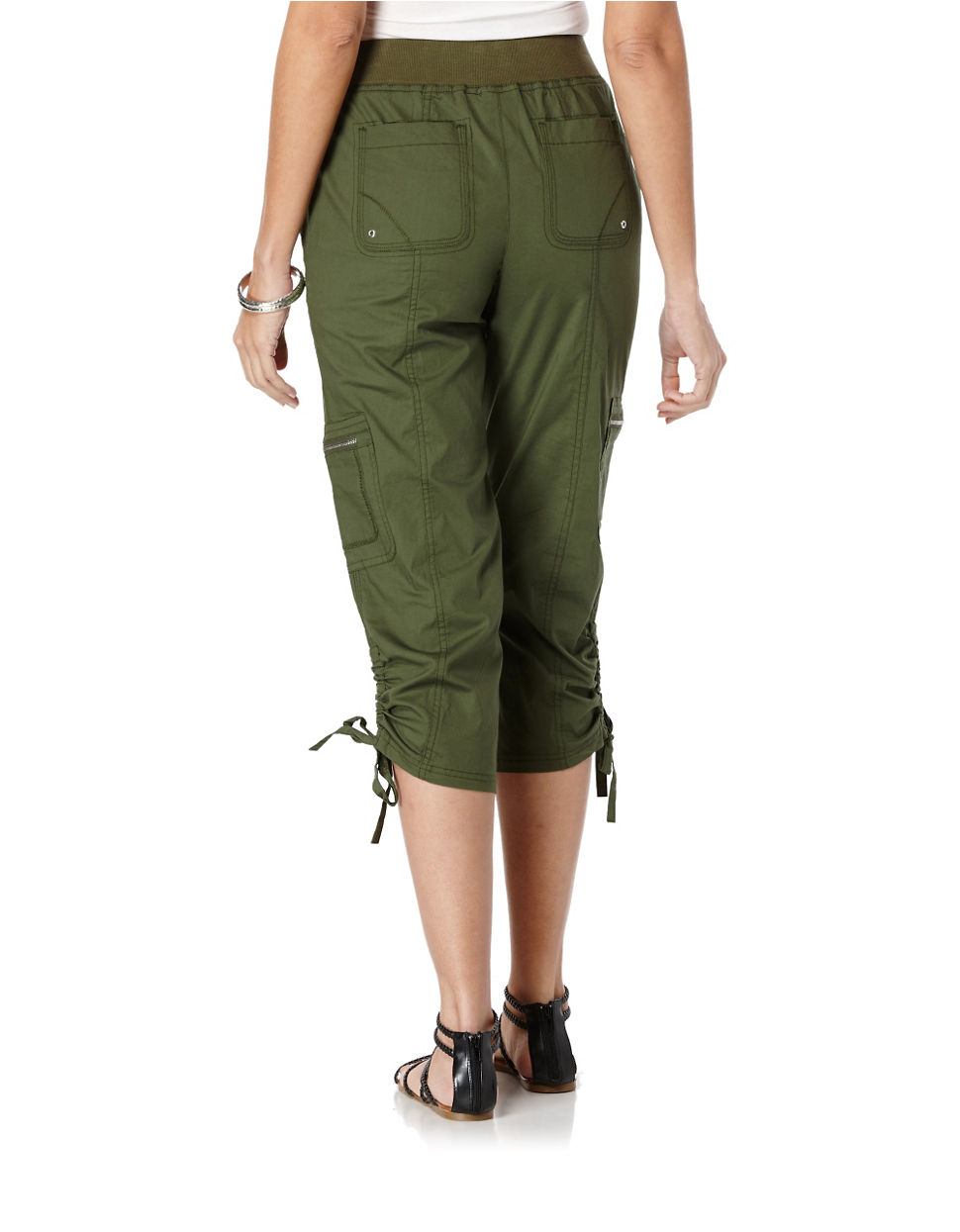 Awesome Inc International Concepts Petite Cropped Cargo Pants In Red Loving