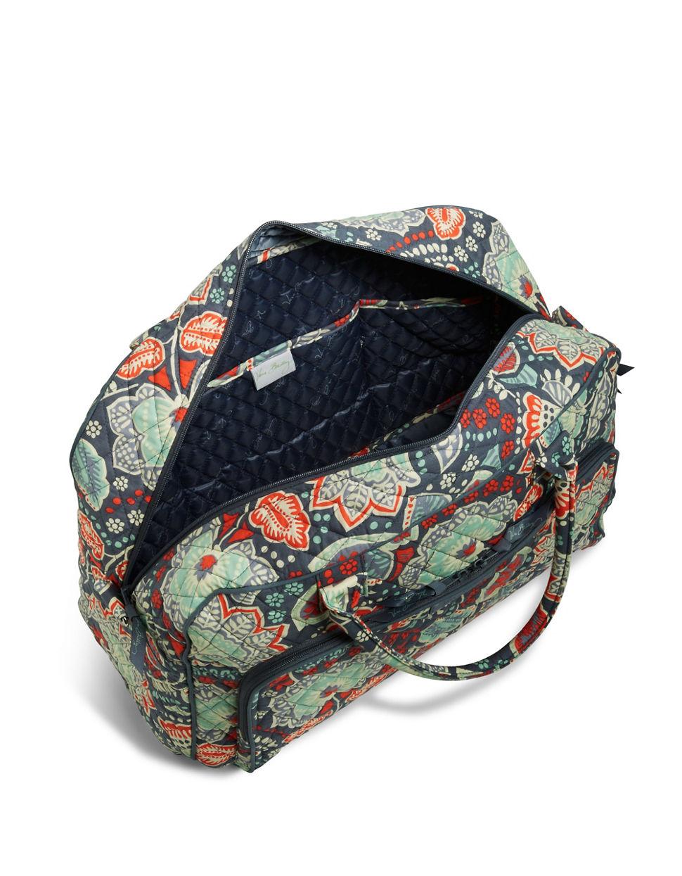 Vera Bradley Patterned Weekender Duffel Bag In Blue   Lyst