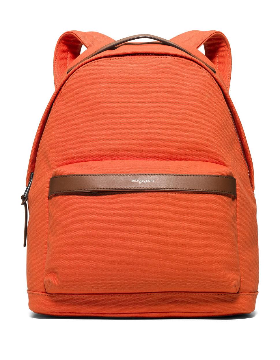 7b04a478e042 Lyst - Michael Kors Grant Backpack in Orange for Men