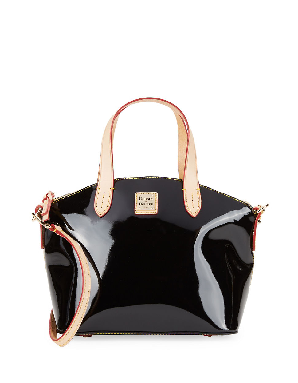 369666a3441 Lyst - Dooney & Bourke Patent Leather Small Satchel in Black