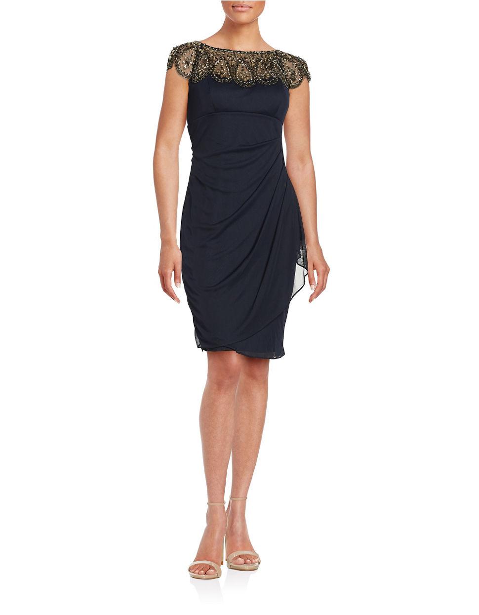 Xscape Embellished Sheath Dress In Black Lyst