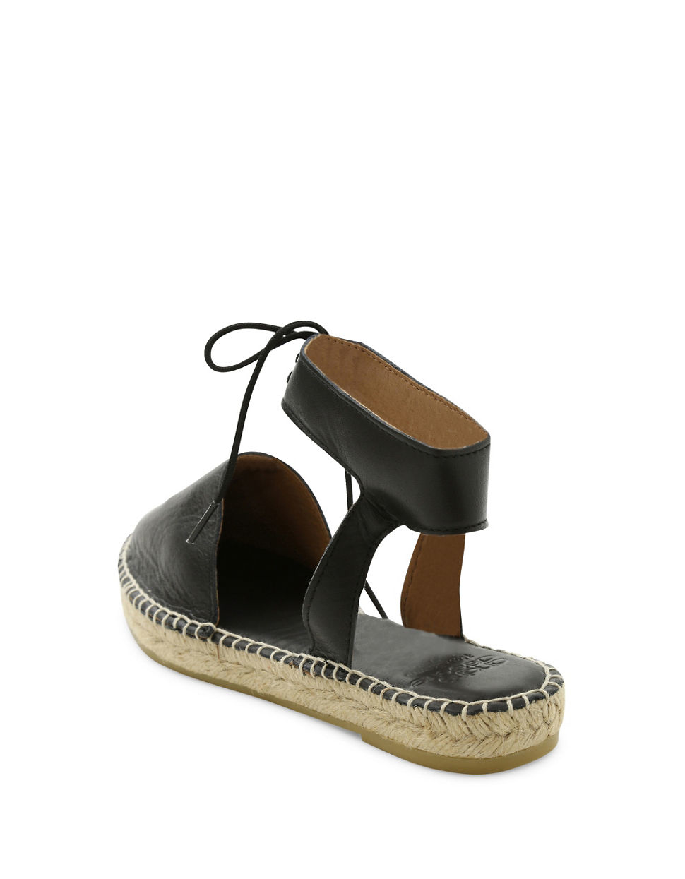 Andre Assous Vanessa Leather Espadrille Flats In Black Lyst