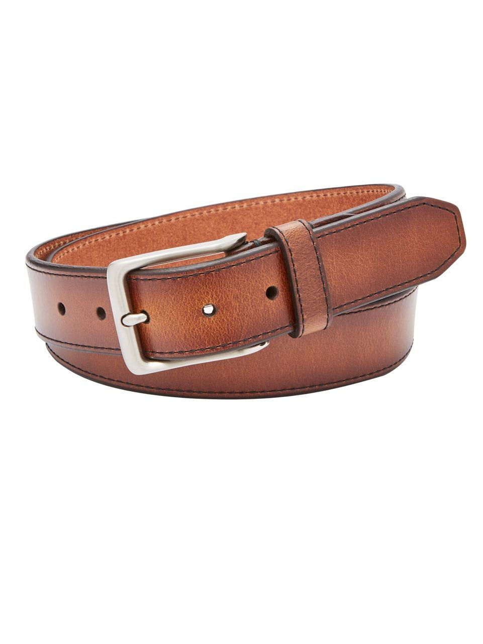 fossil griffin leather belt in brown for lyst
