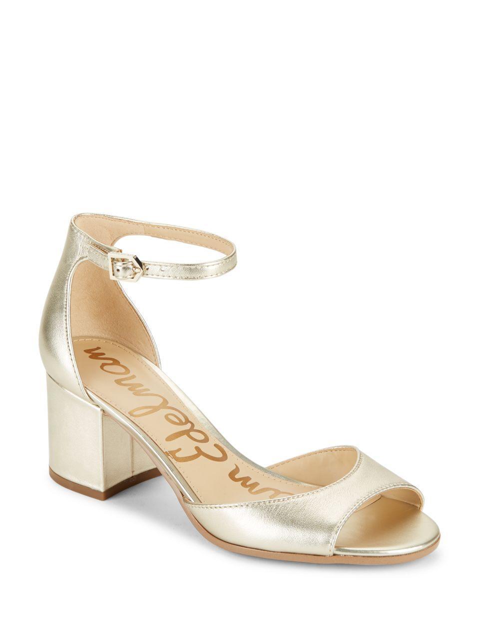 Lyst Sam Edelman Susie Sandals In Metallic