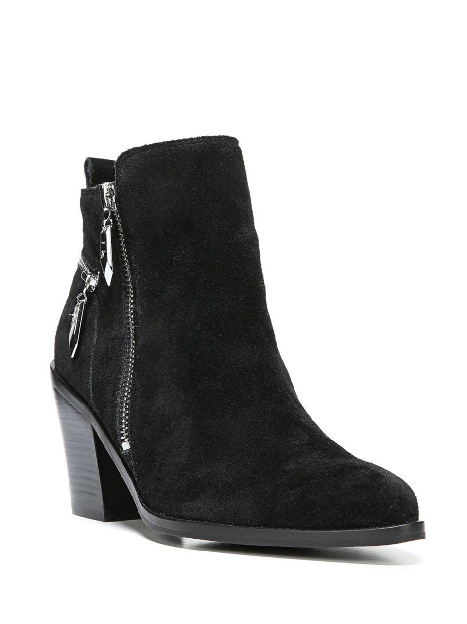 fergie suede ankle boots in black lyst