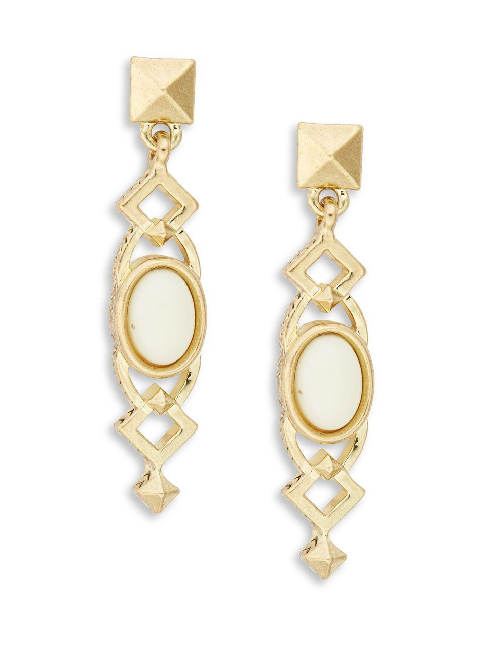 House Of Harlow House of Harlow Lady Of Grace Drop Earring in Metallic Gold x6aOqC686