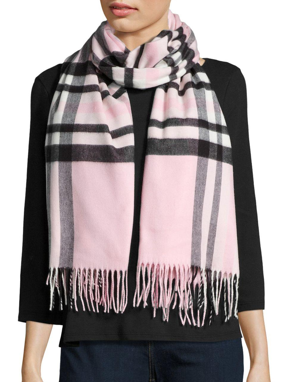 lord plaid blanket wrap and scarf in pink lyst