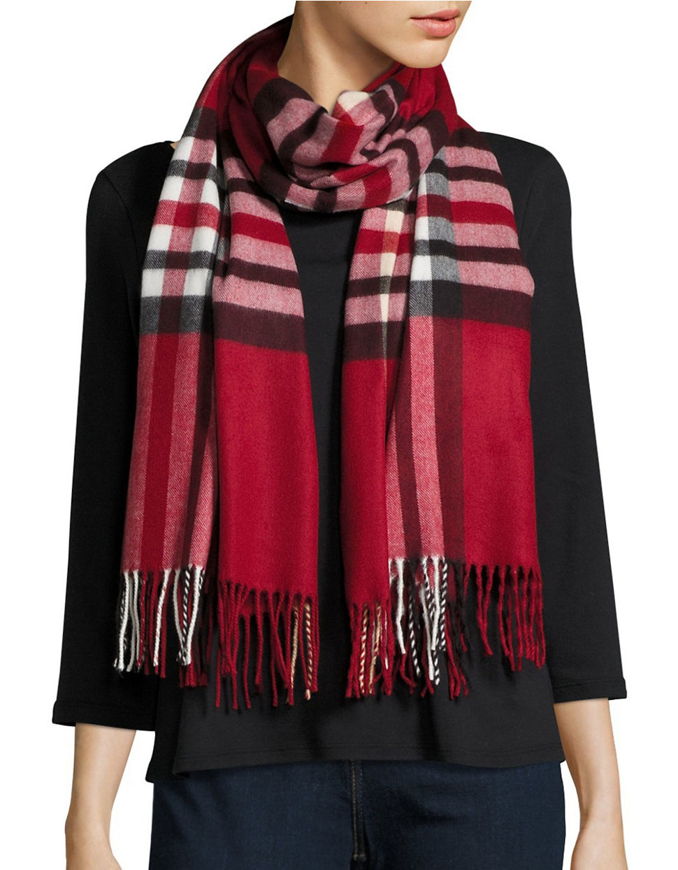 lord plaid blanket wrap and scarf in lyst
