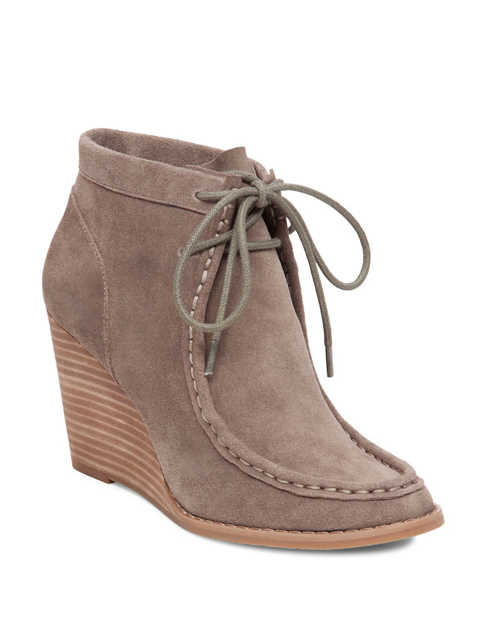 lucky brand ysabel lace up ankle boots lyst
