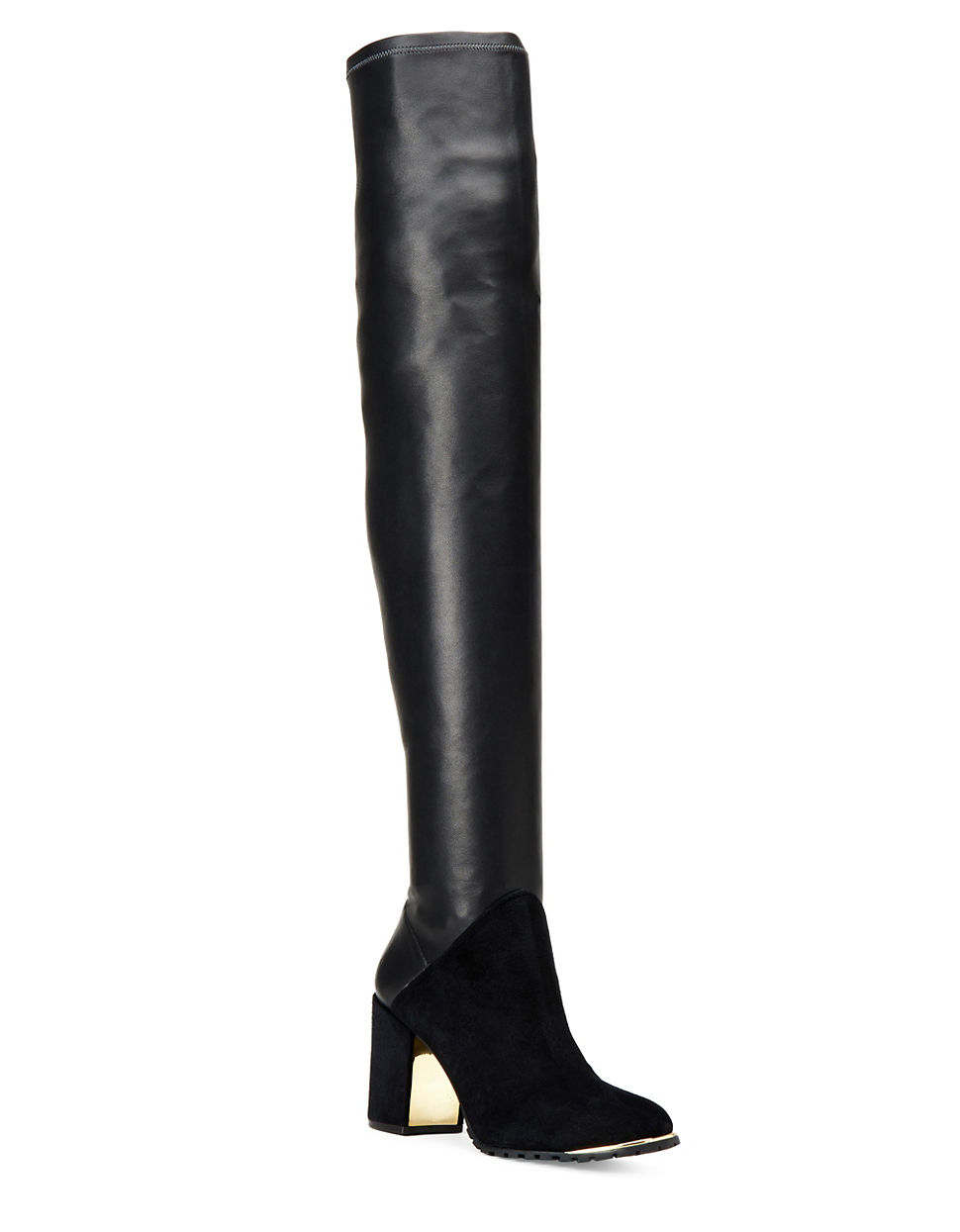 zoe taz suede and leather the knee boots in