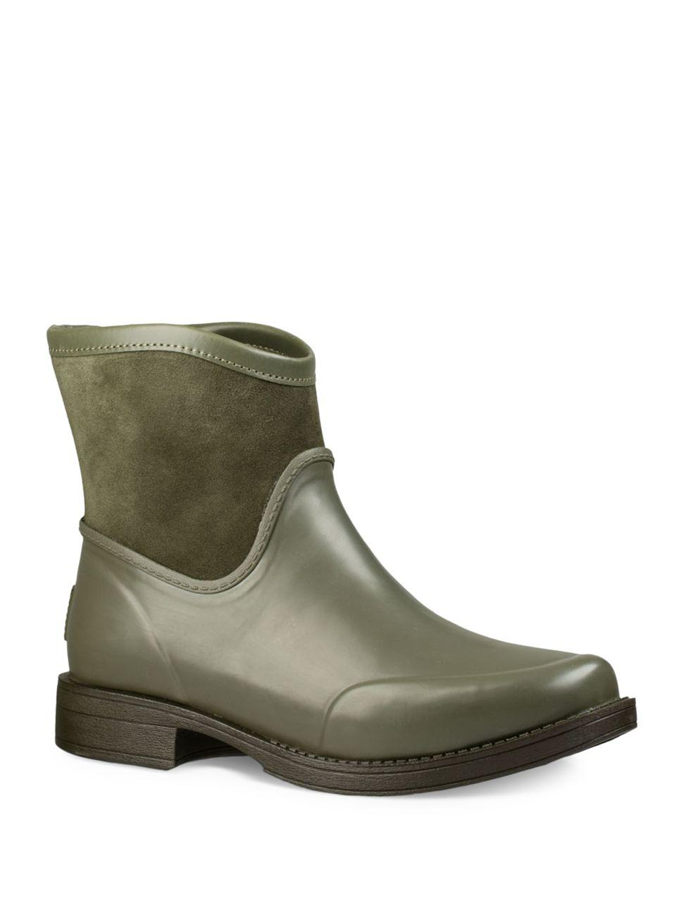 80345bbd871 Lyst - UGG Paxton Leather And Suede Boots in Green