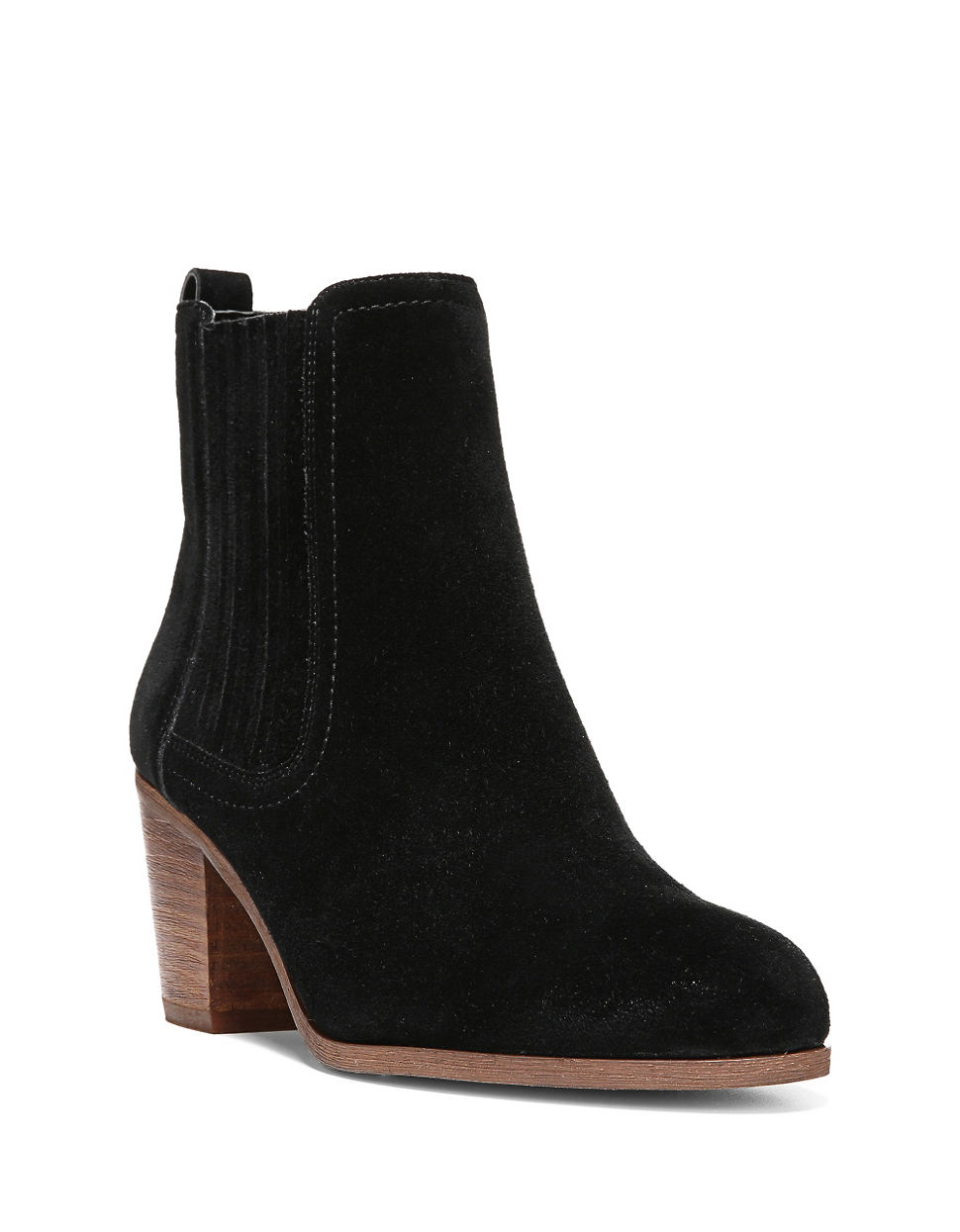 sam edelman lance suede ankle boots in black lyst