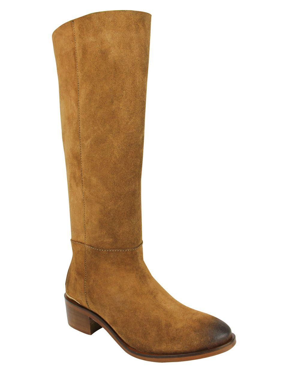 monkey stride suede shaft boots in brown lyst