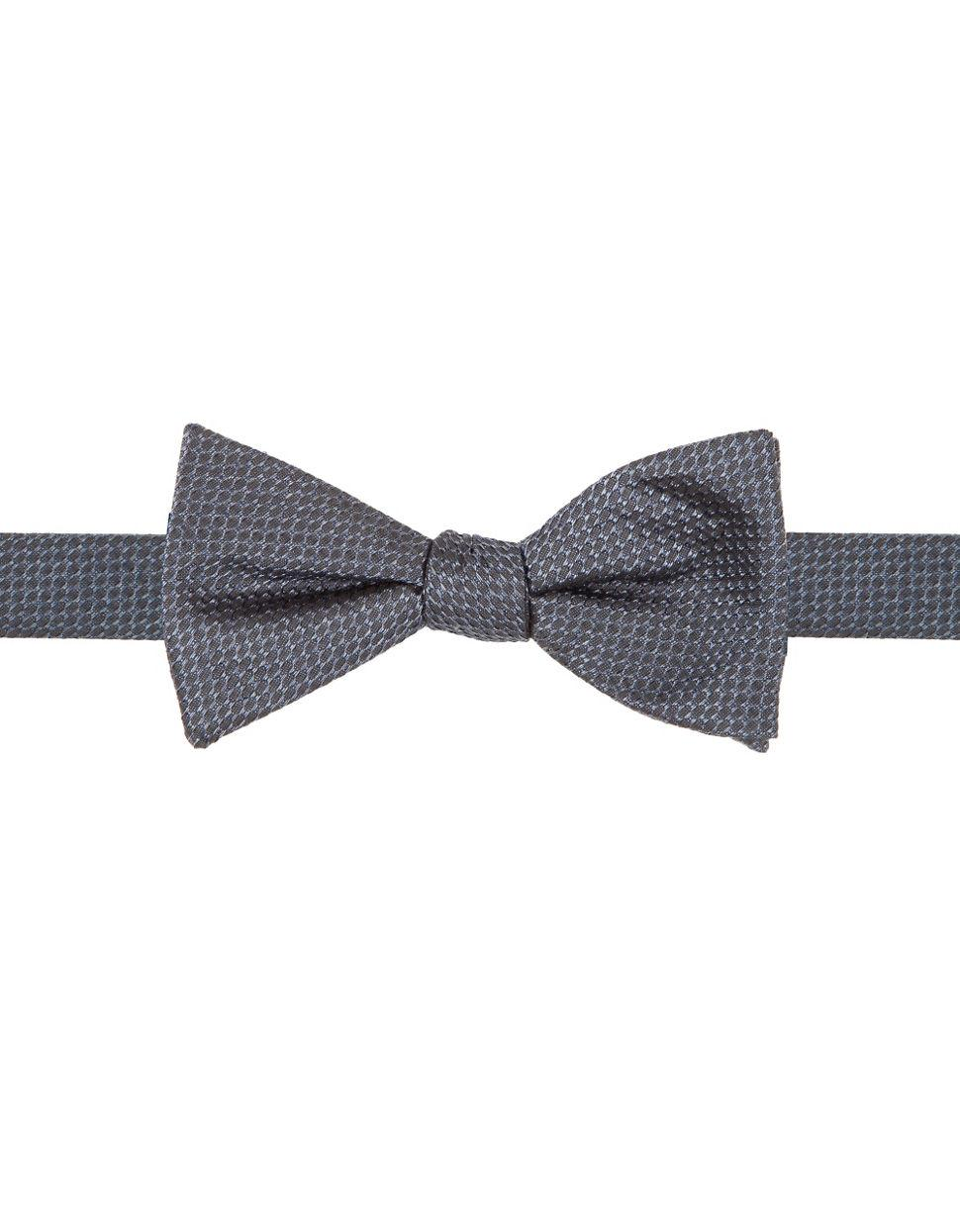 vince camuto geometric silk bow tie in blue for lyst
