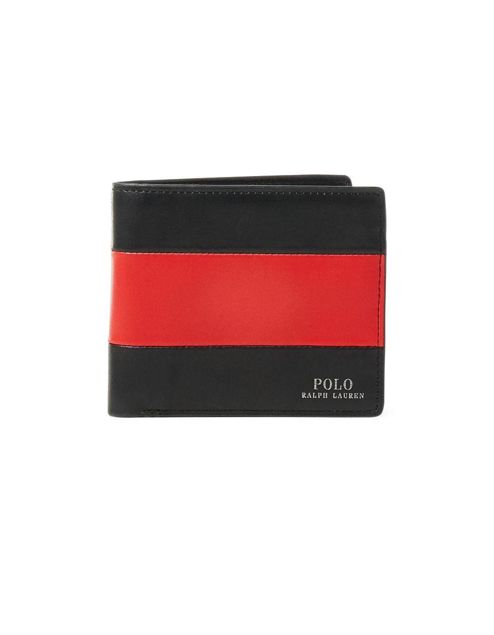 Polo Ralph Lauren Bi Fold Striped Wallet In Red For Men Lyst
