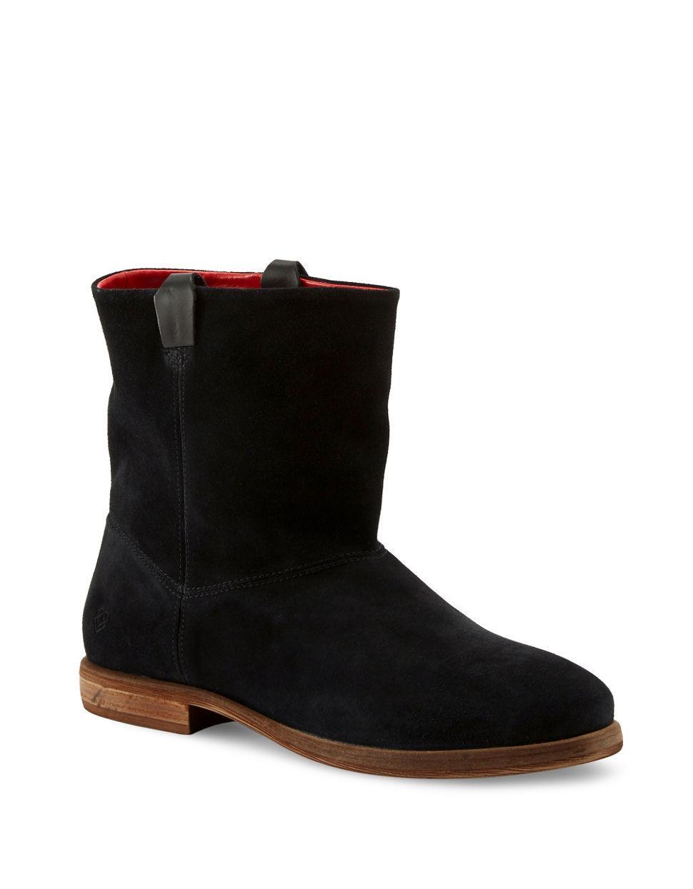 liebeskind berlin round toe suede ankle boots in black lyst. Black Bedroom Furniture Sets. Home Design Ideas