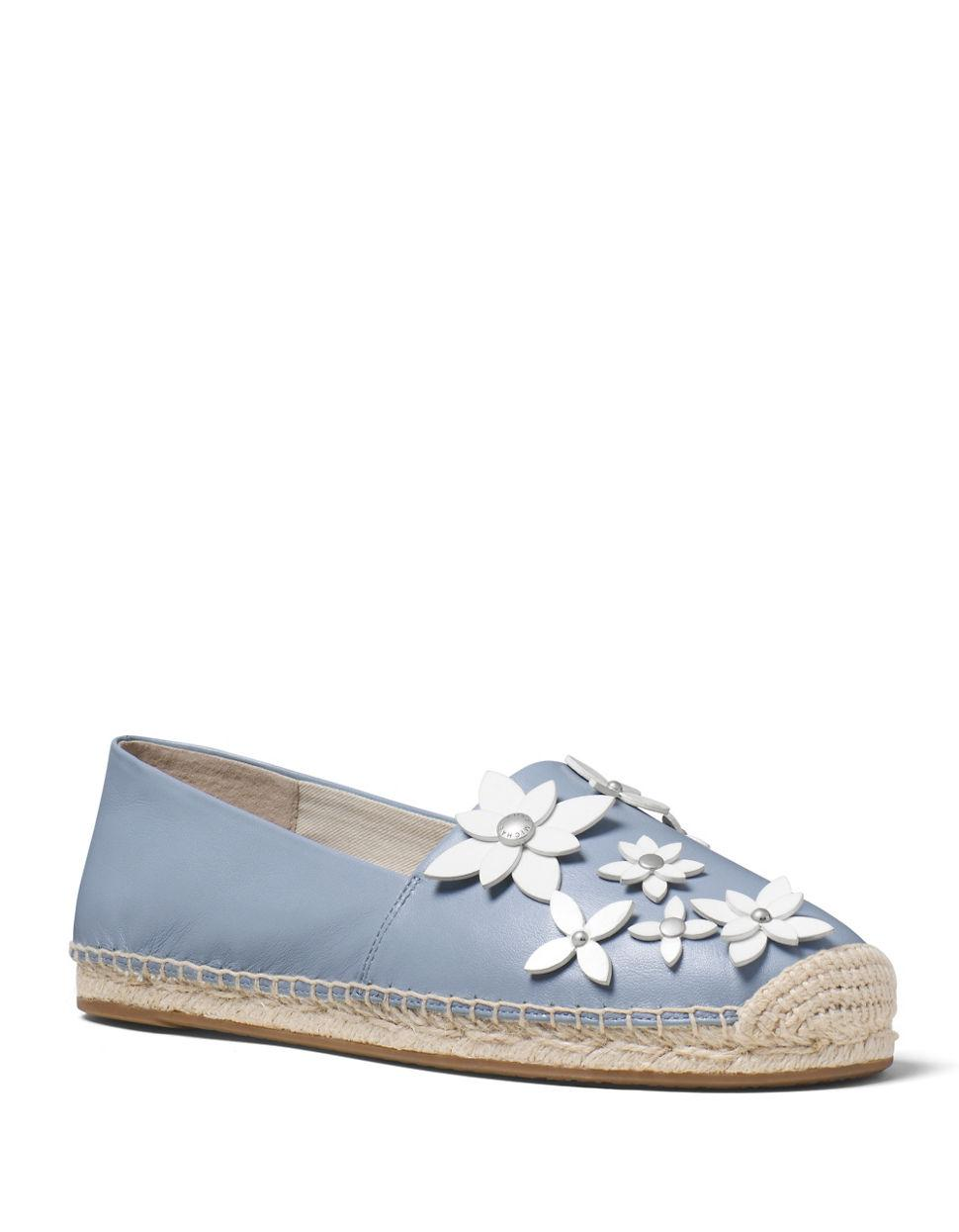 michael michael kors lola embellished leather espadrilles in blue lyst. Black Bedroom Furniture Sets. Home Design Ideas
