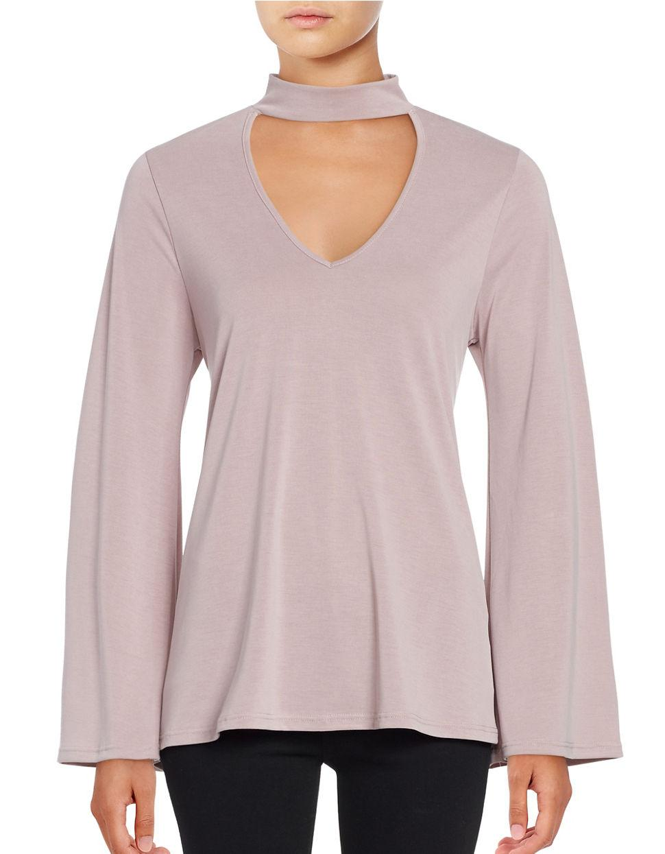Lord Taylor V Neck Long Sleeve Top In Multicolor Lyst