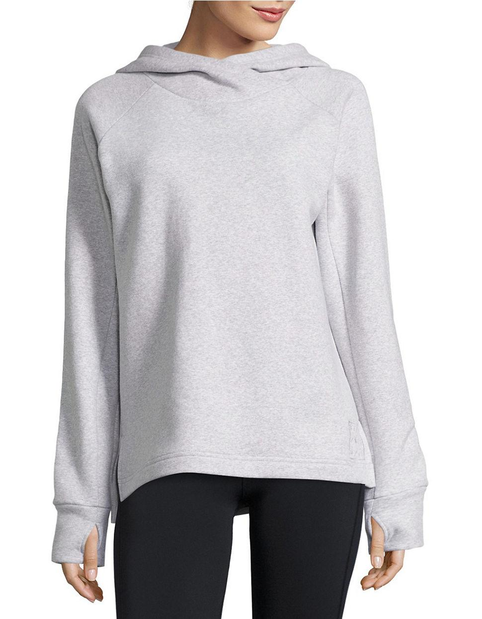 Bench Double-Knit Thumb-Hole Hoodie In Gray  Lyst-4611