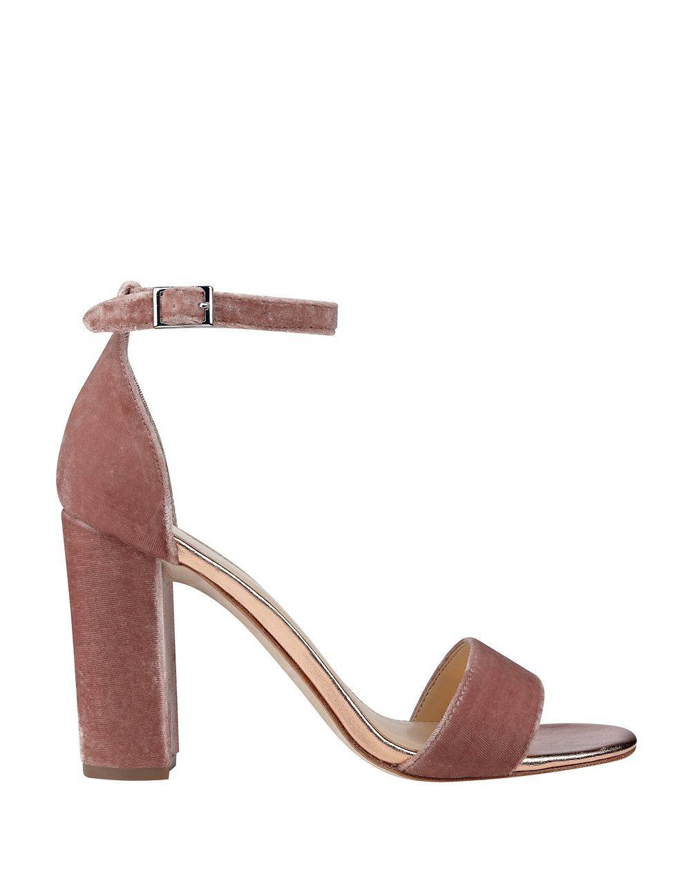 92e4bce9429 Lyst - Ivanka Trump Klover Velvet Ankle Strap Sandals in Pink