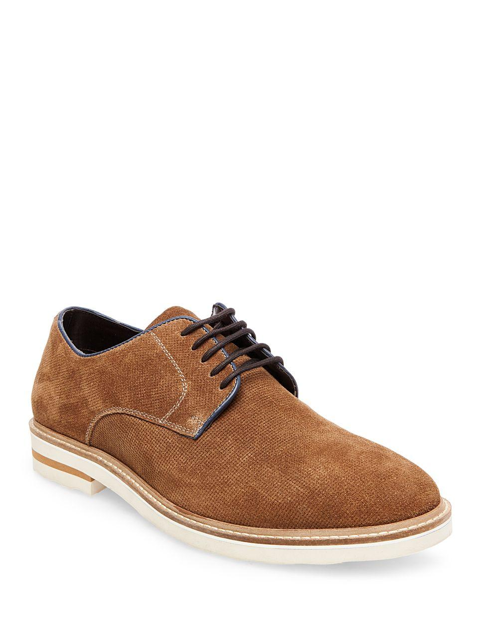 steve madden horten suede dress shoes in brown for lyst