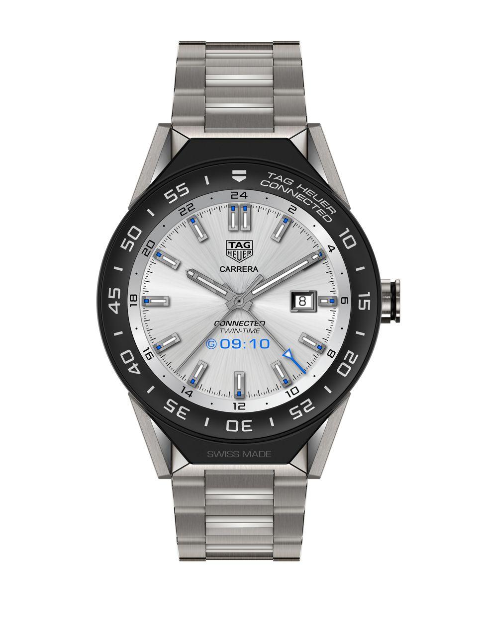Lyst tag heuer connected modular 45 swiss made smart watch in metallic for men for The tag heuer connected modular