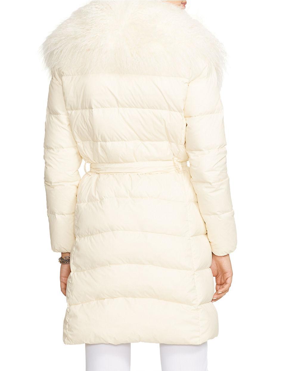 Lyst - Lauren By Ralph Lauren Petite Quilted Faux Fur ...