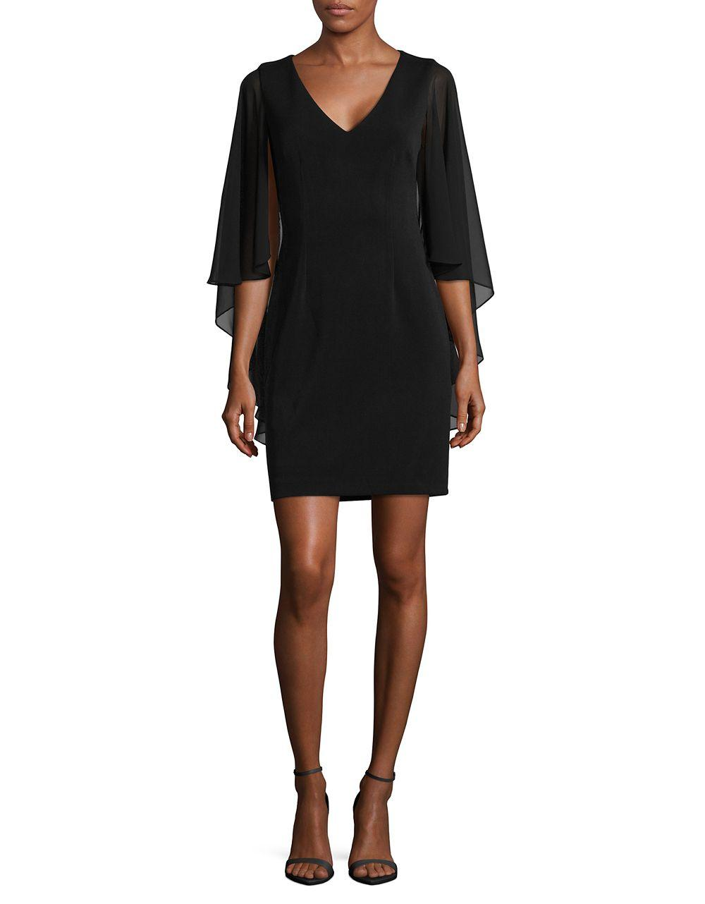 Vince Camuto Sheer Formal Dress In Black Lyst