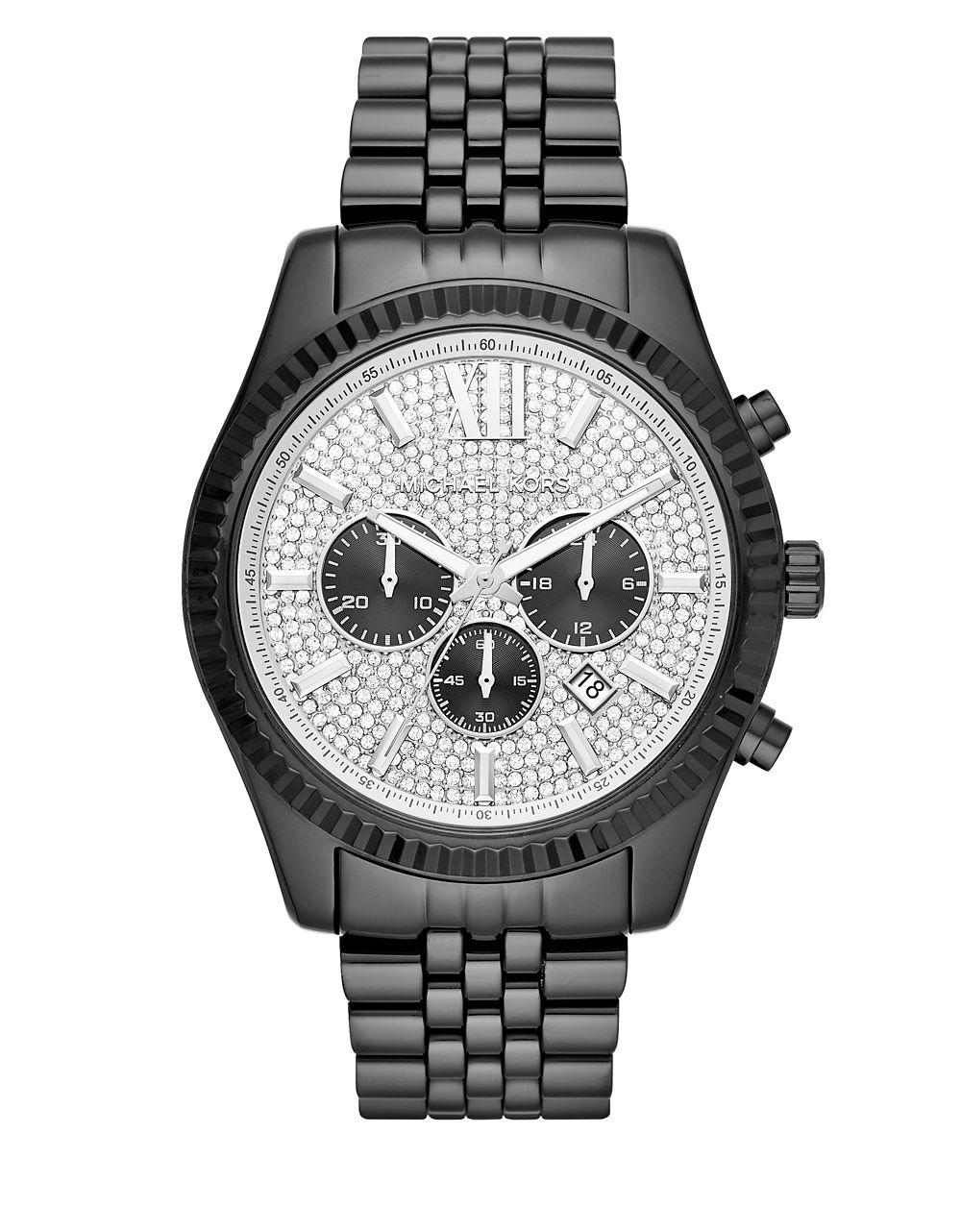 73fdde116251 Michael Kors. Men s Gray Lexington Ip Stainless Steel Bracelet Chronograph  Watch