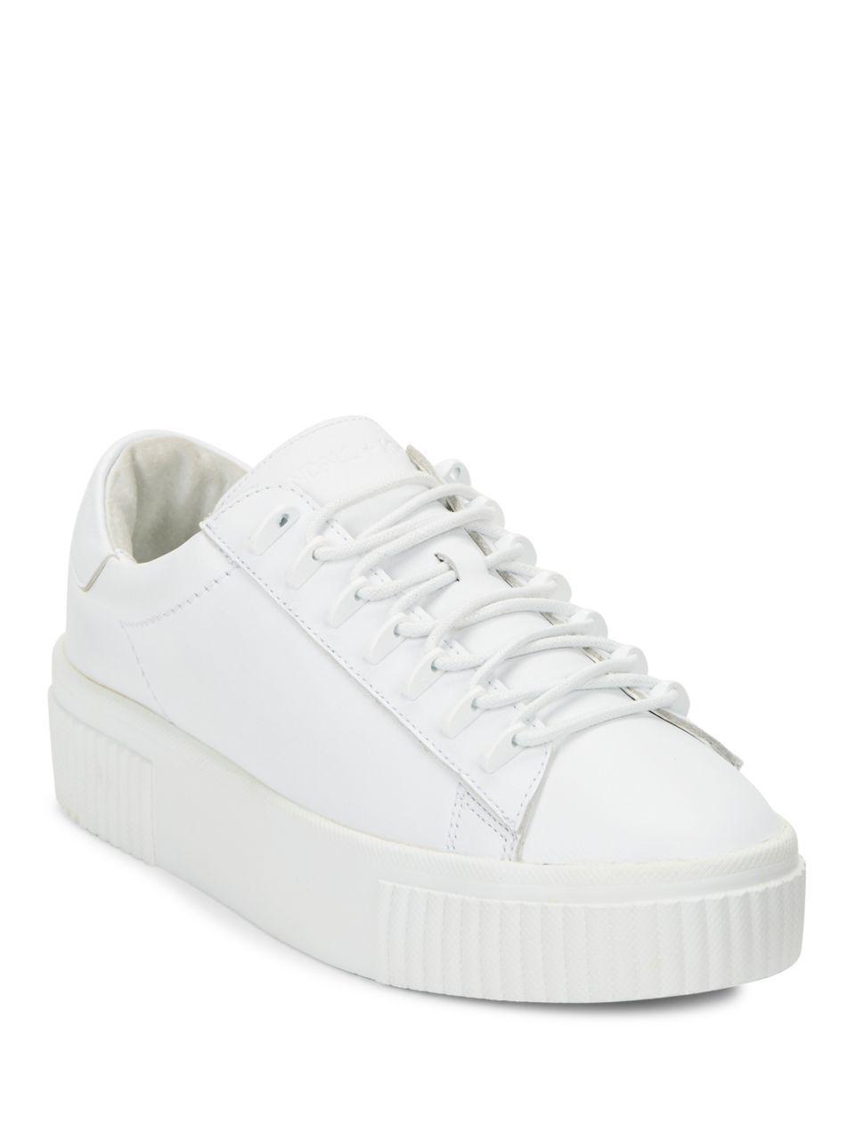 Read more White Leather Flatform Sneakers bRbcnWDu3