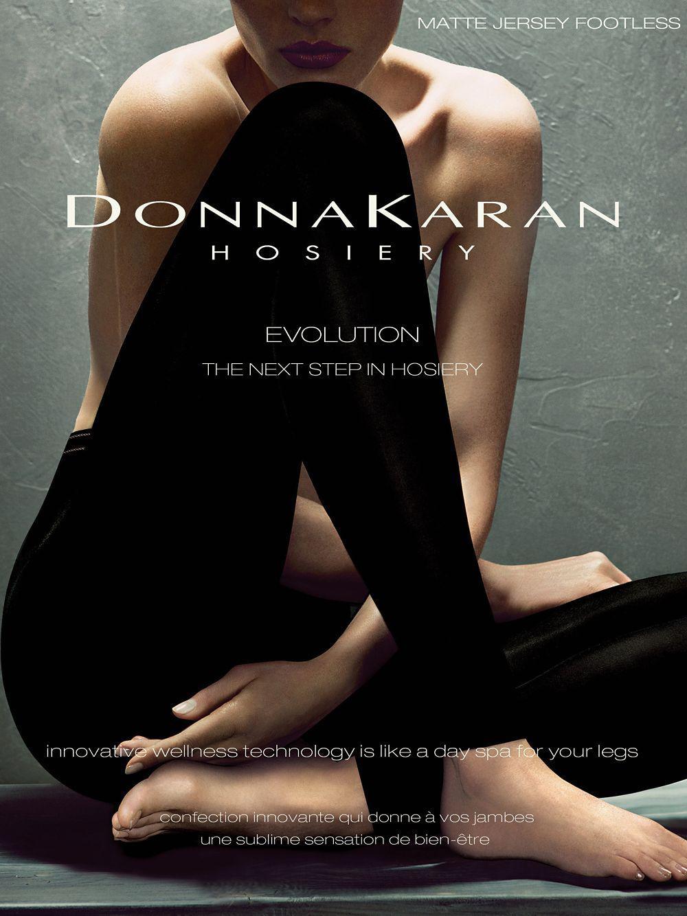306da0f483 Donna Karan - Black Matte Jersey Footless Tights - Lyst. View fullscreen
