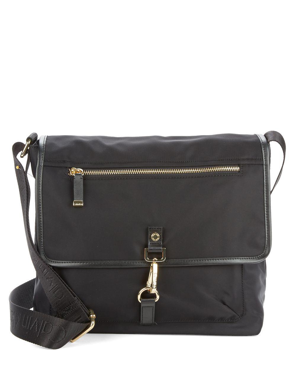 Lyst - Calvin Klein Nylon Messenger Bag in Black b661e939fb