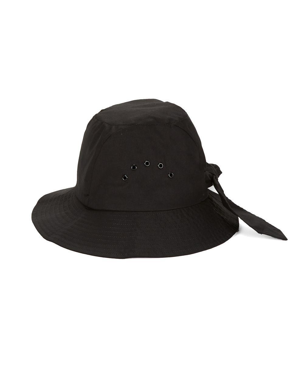 174e7d92fe5 Betmar Cotton Cloche Knot Hat in Black - Lyst