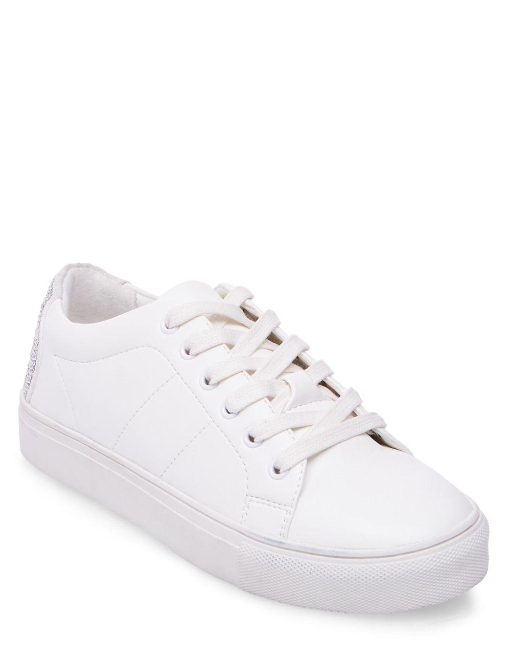 dfb71793b8f Steve Madden Smiley Low-top Sneakers in White - Lyst