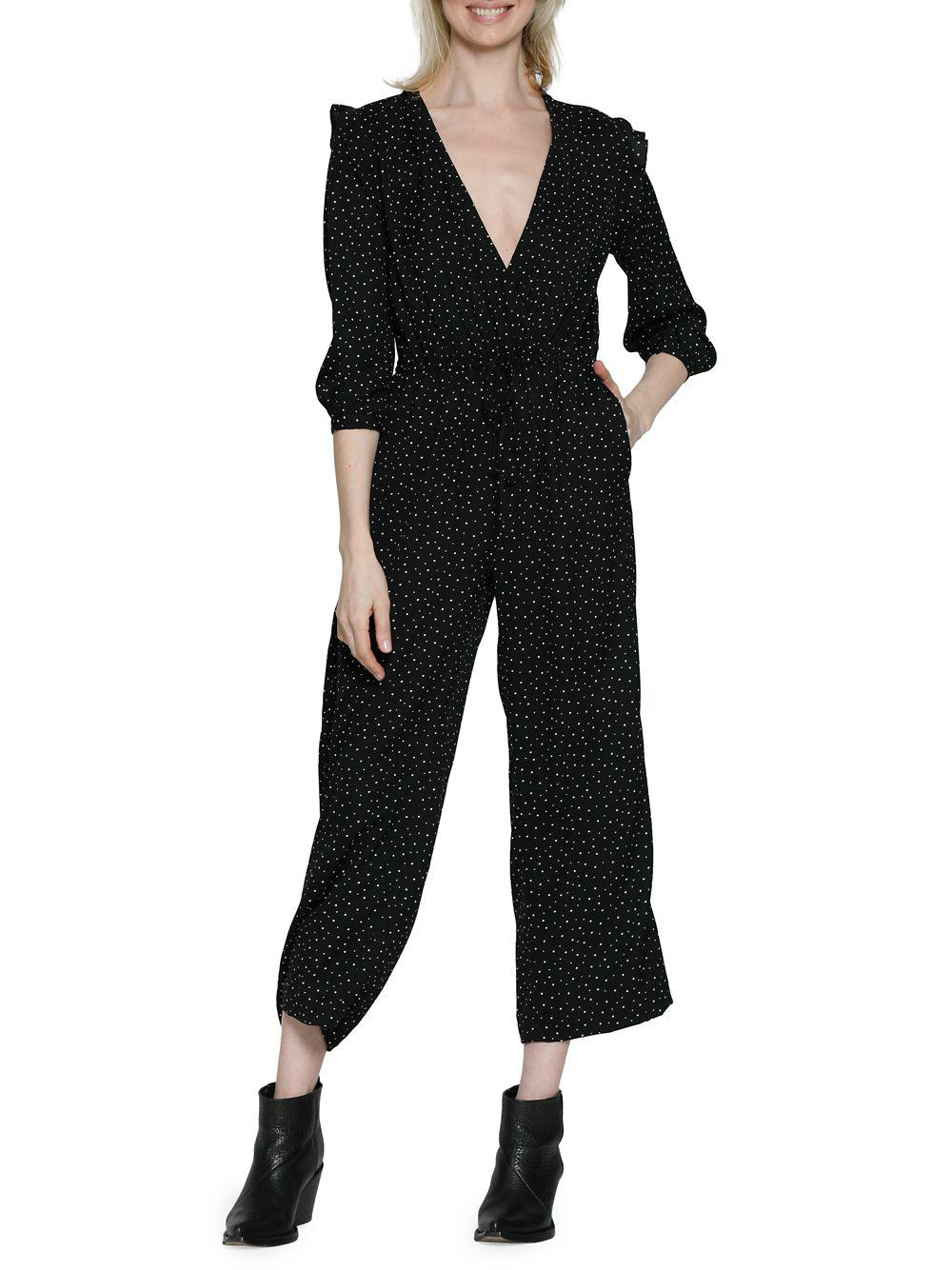 0a71216aa607 Lyst - Walter Baker Mona Printed Jumpsuit in Black