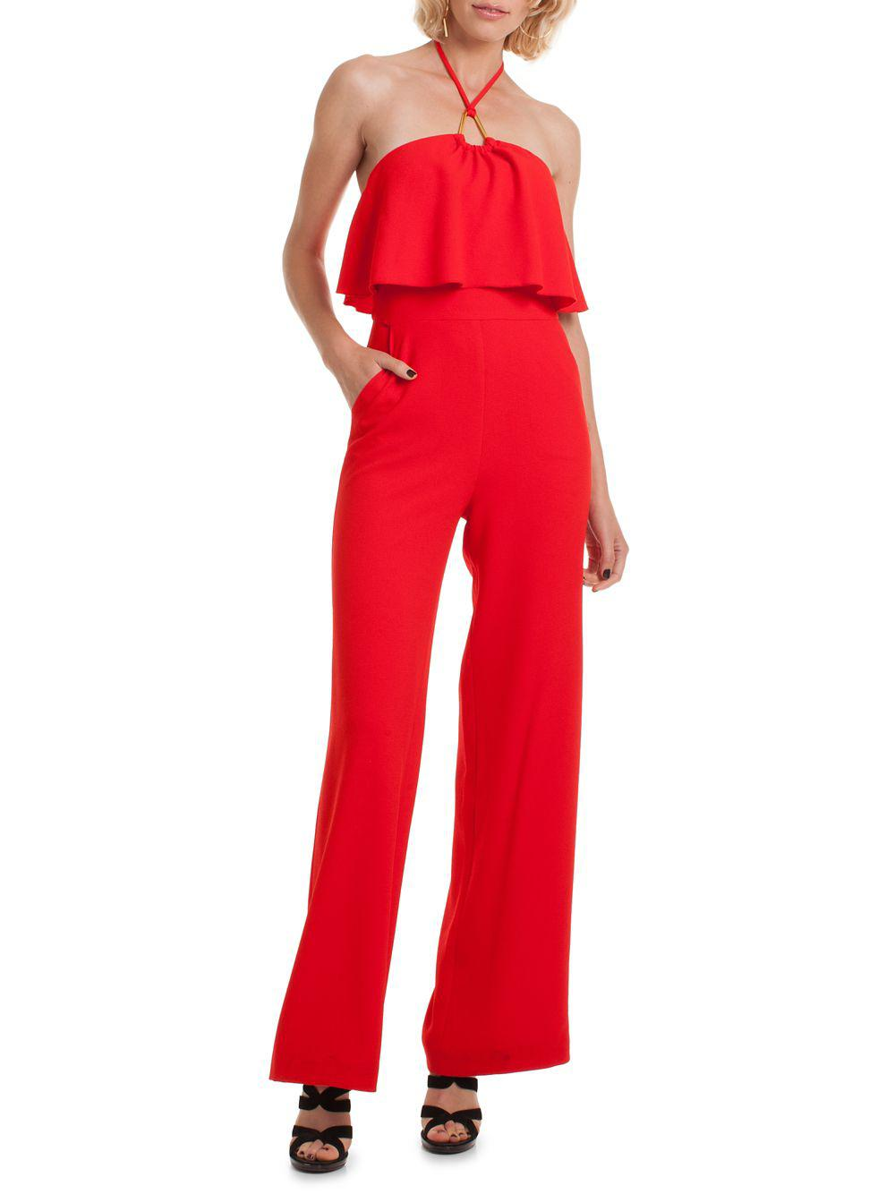 d1ec655d83e2 Lyst - Trina Turk Found In Translation Gabriella Halter Jumpsuit in Red